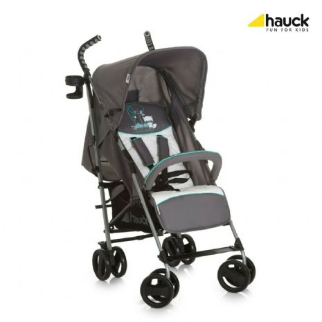 Hauck Speed Plus Compact Folding Grey Pushchair Buggy Pram Forest Fun+Raincover